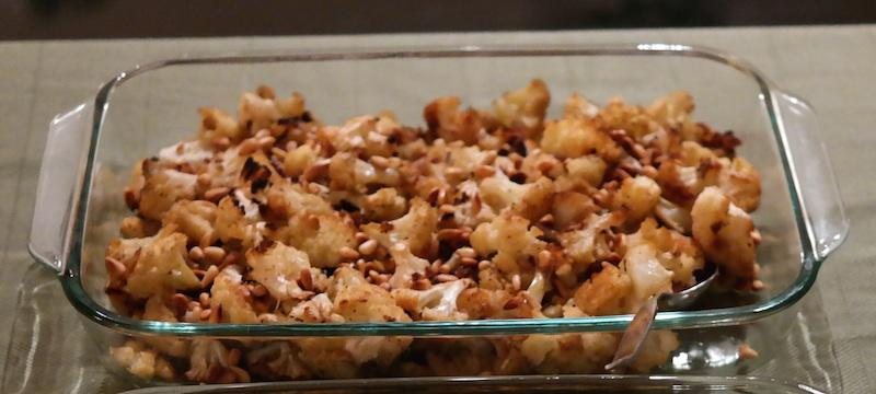 Roasted cauliflower - healthy thanksgiving sides