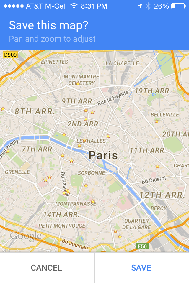 Two Must Have Free Apps When Traveling to Paris Google Map Paris on rainy paris, instagram paris, euro disney paris, new years eve paris, avenue foch paris, vikings paris, mapquest paris, world maps paris, google street view paris, europe paris, google earth paris, you tube paris, google earth street view, left bank paris, google philips empire state building, google paris france, google map hollywood ca,