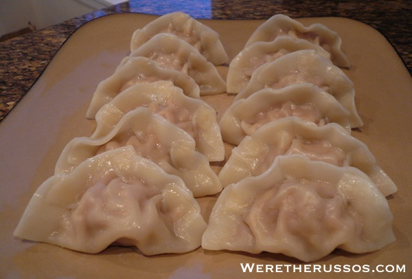 boiled pork dumplings