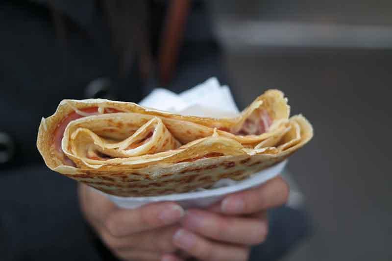 Paris Food Guide - Cafede la Place crepe