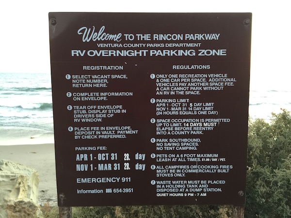 Rincon Parkway Registration and Regulations