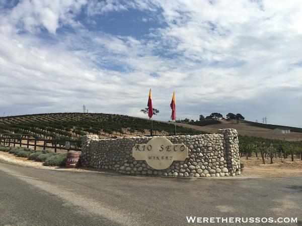 Rio Seco Winery Entrance