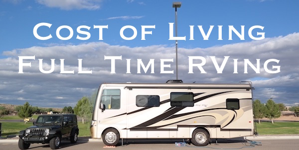 Cost of living full time in a RV