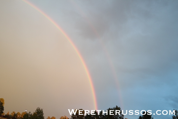 Pagosa Springs double ranbow