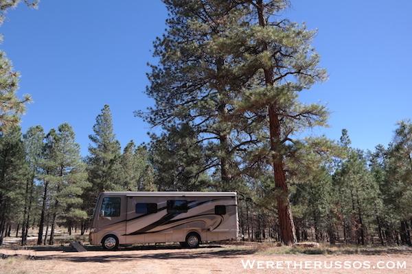 Free camping outside grand canyon