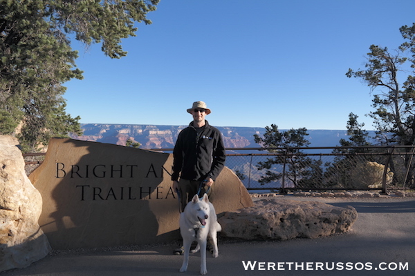Grand Canyon South Rim Bright Angel Trail Leo