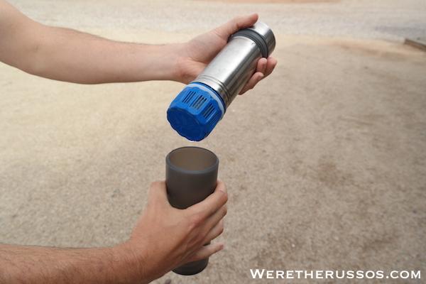 Grayl filter dripping