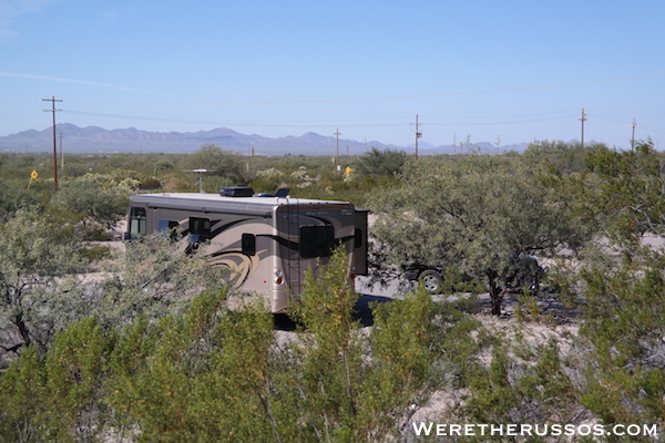 Free Camping Tucson, Arizona RV
