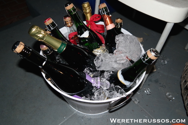 Bucket of champagne