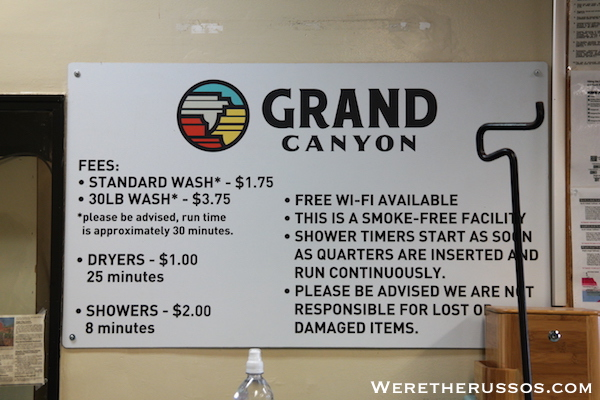 Mather Campground Grand Canyon Laundry and Shower