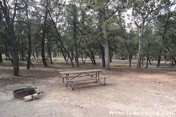Mather Campground Grand Canyon Picnic Table Fire Ring