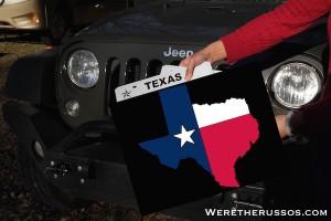 Texas license plates