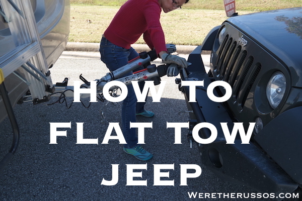 how to flat tow a jeep wrangler