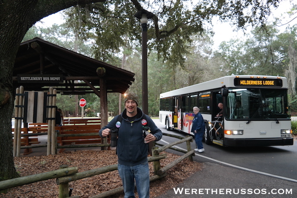 Disney's Fort Wilderness Settlement Bus Depot