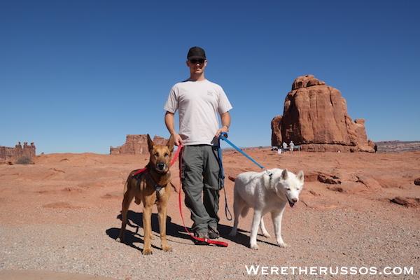 Arches Joe with Duke and Leo