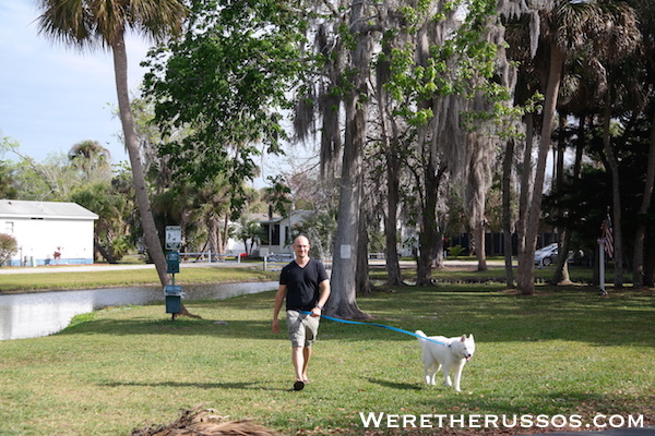 Space Coast RV Resort dog walk