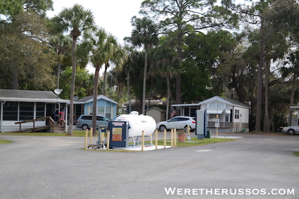 Space Coast RV Resort propane
