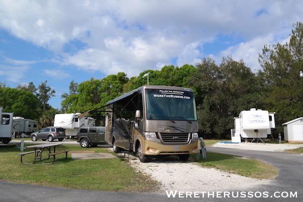Space Coast RV Resort site D-37