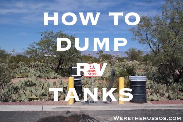 how to dump rv tanks