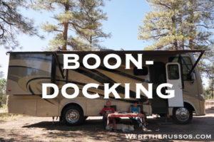 Boondocking RV dry camping