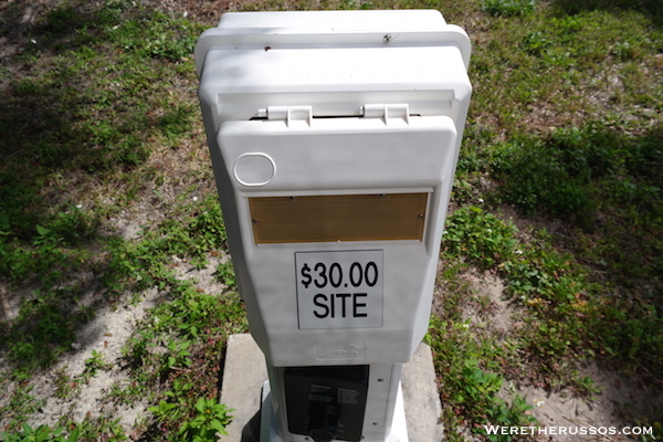 Flamingo Campground Everglades campsite fee