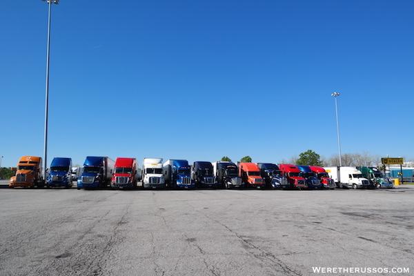 Pilot Truck Stop Parking Tifton Gerogia