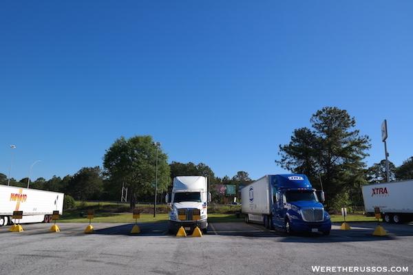 Pilot Truck Stop Reserved Parking