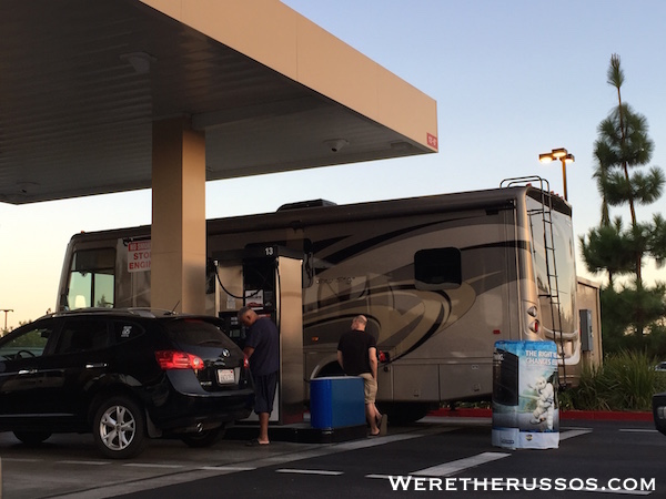RV at Costco Gas Station