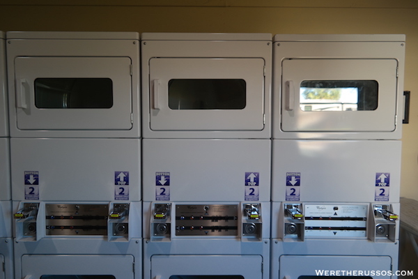Thousand Trails Orlando laundry dryers