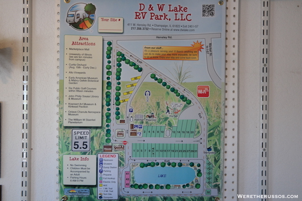 D&W Lake Camping RV Park Champaign map