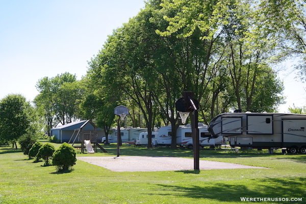 D&W Lake Camping RV Park Champaign playground