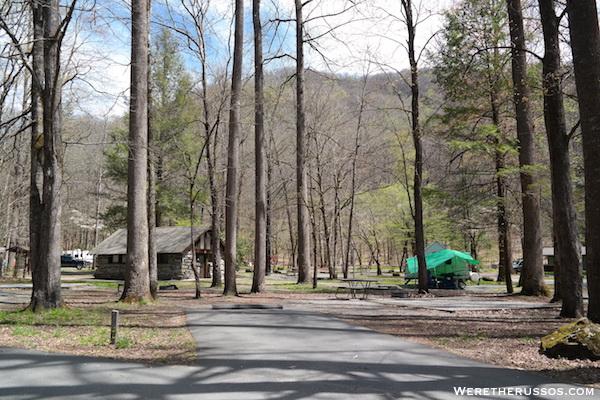Smokemont campground campsites