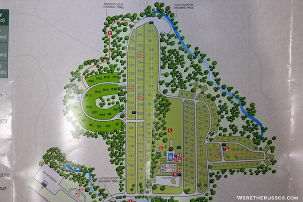 Pine Country RV Resort map