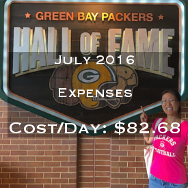 July 2016 Daily Expenses