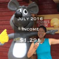 July 2016 Income