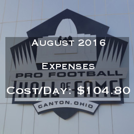 August 2016 Expenses Report
