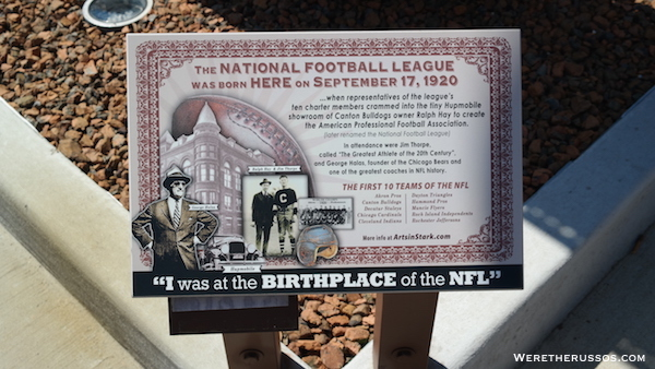Birthplace of NFL