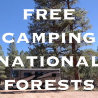 Free camping in national forests