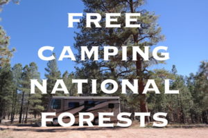 dispersed camping Free camping in national forests