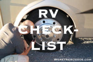 RV-Checklist for motorhome