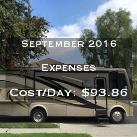 September 2016 Expenses