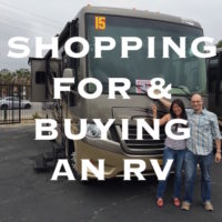 shopping for and buying an RV