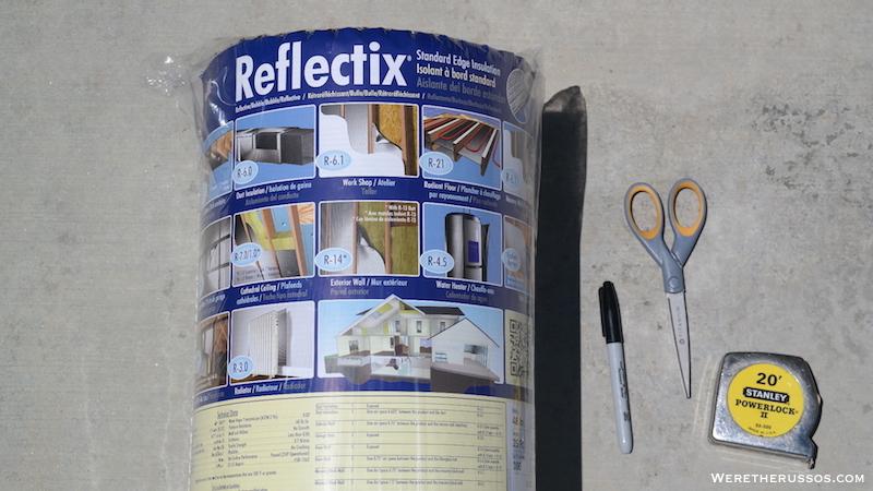 Reflectix RV window shades