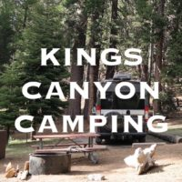 Kings Canyon Camping
