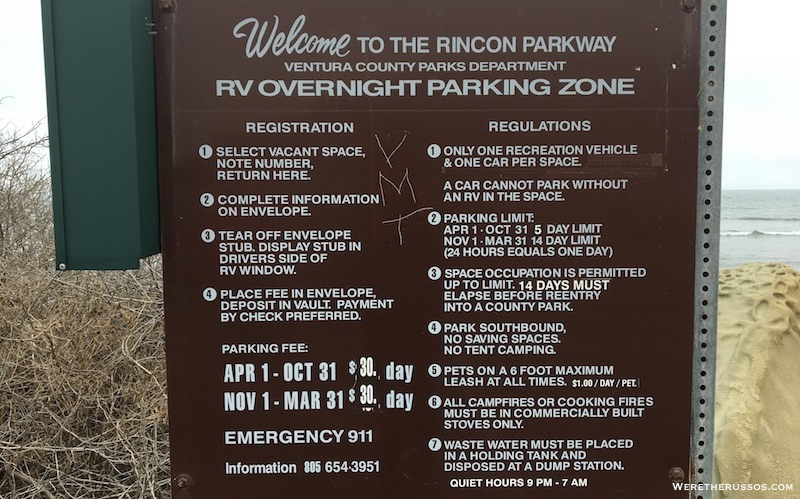Rincon Parkway Campground Rules
