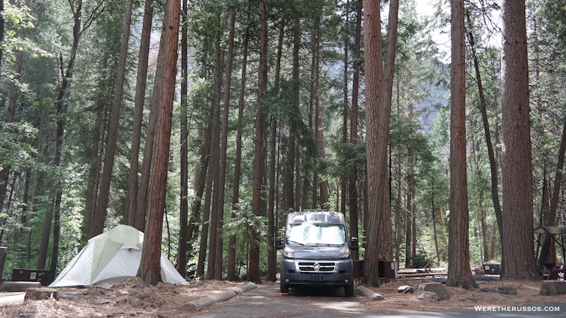 Upper Pines Campground best site