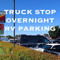overnight parking at truck stops