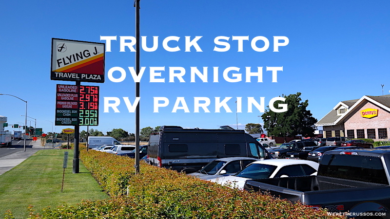overnight parking at truck stops flying j