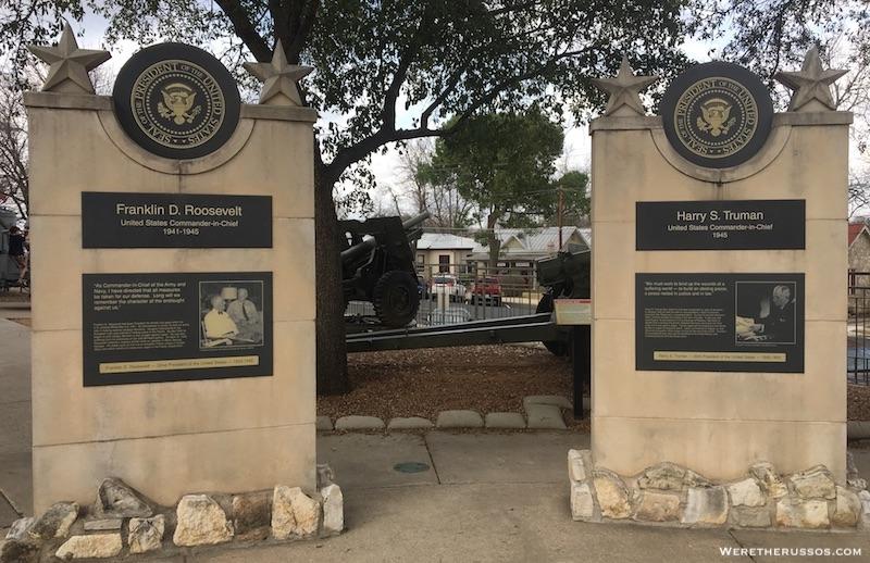 Plaza of the Presidents Fredericksburg TX