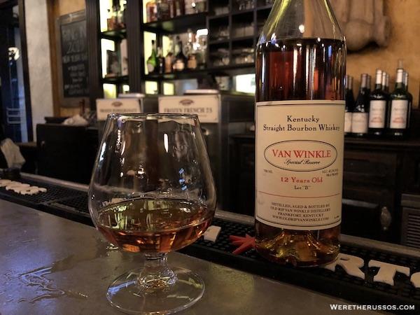 Pappy Van Winkle bourbon New Orleans